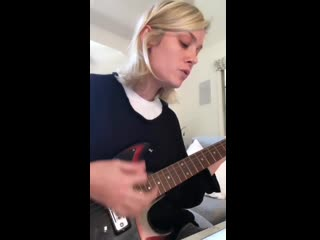 Brie larson playing guitar and singing