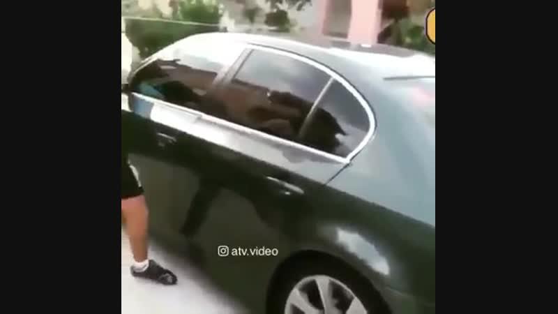 БМВ 5 не может разбить стекло машины