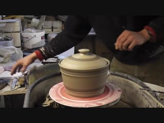 How to throw _⁄ make a Pottery Casserole _u0026 lid on the wheel