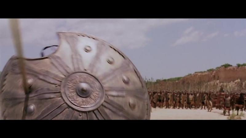 Ахиллес и огромный воин Багрис.