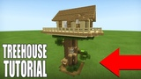 Minecraft Tutorial How To Make A Treetop Tree house