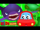 Ⓗ Little Red Car scary flying shark original Halloween songs for kids