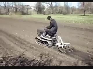 Самодельный мини трактор - vk.com/my.dacha
