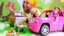 Yemek yapma oyunları Ken ve Barbie barbekü partisinde