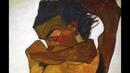 Schiele Seated Male Nude Self Portrait