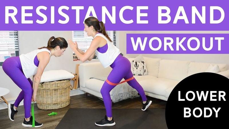 Nicole Pearce - Resistance Band Workout - Lower Body   Тренировка для ягодиц и ног с фитнес-резинкой