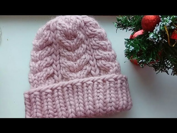 Нежнейшая объемная шапка АНАСТАСИЯ из перуанской пряжи. Подробный МК для начинающих.