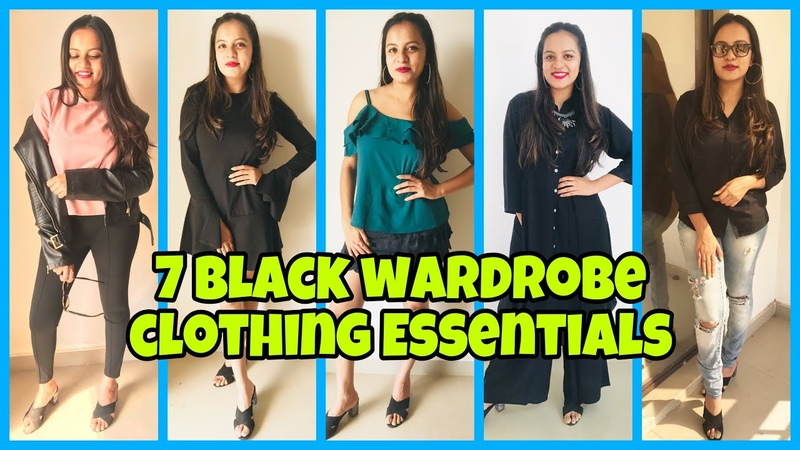 Black Clothing Essentials- Styling LookBook 2019| Dhruva Gandhi