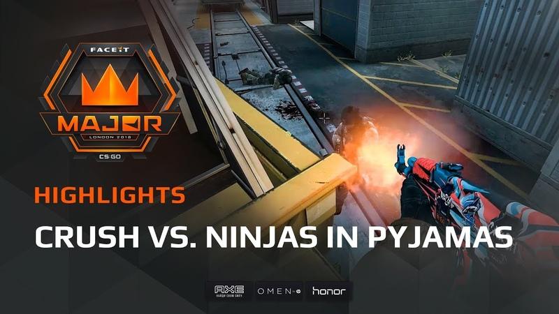 Highlights Crush vs Ninjas in Pyjamas, FACEIT Major London 2018 - New Legends Stage