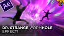 Fall Through a WORMHOLE like Dr. Strange - After Effects Tutorial