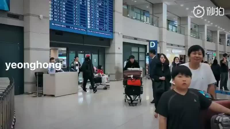 2018 10 23 Kim Hyun Joong прилетают в Корею аэропорт Incheon