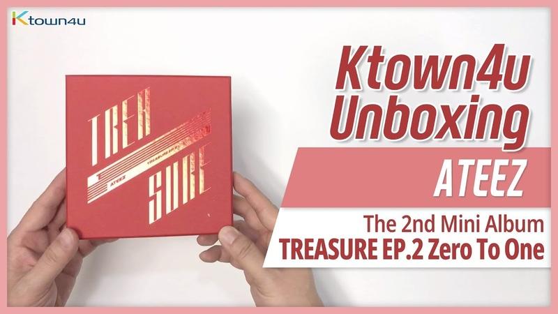 Unboxing ATEEZ 2nd mini TREASURE EP 2 Zero to One 에이티즈 언박싱 KPOP Ktown4u