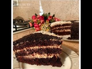Шоколадный торт на раз, два, три😋 (ингредиенты указаны в описании видео)