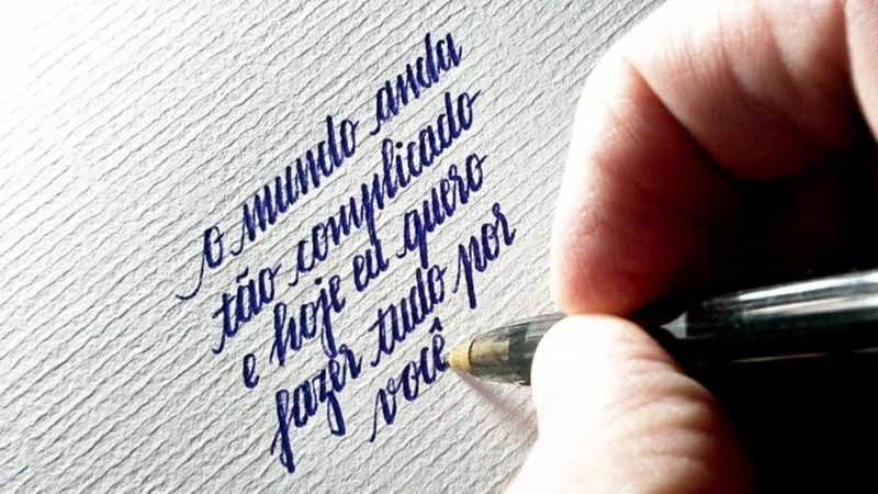 Handwriting Calligraphy with Ballpoint Pen