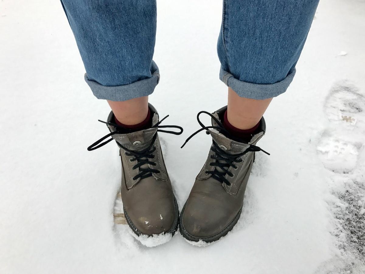 Наступила снежная, ветреная зима!