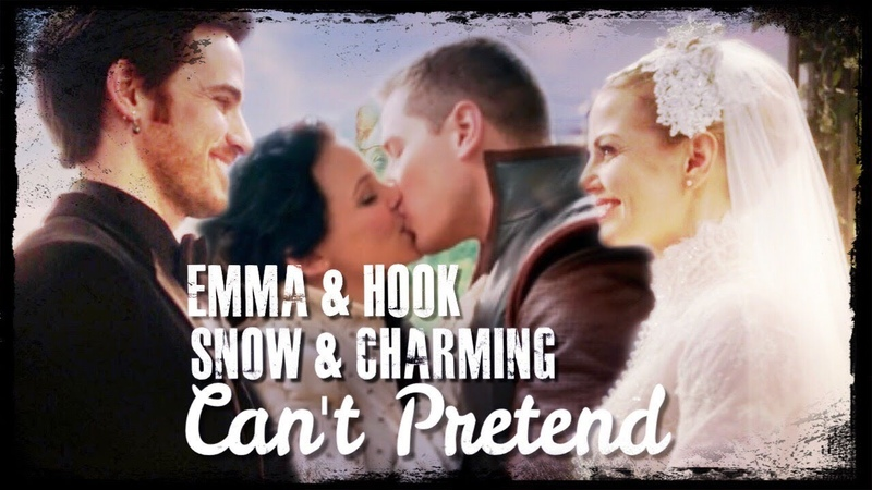 Snowing Captain Swan || Can't Pretend