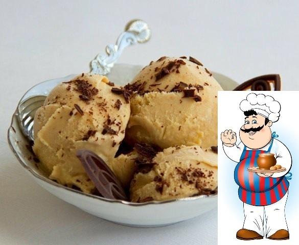 Мороженое Крем-брюле. Всеми любимое мороженое крем-брюле делается на основе жидкой карамели. Карамель довольно просто приготовить дома. Если вы не хотите этим заниматься, то возьмите вместо