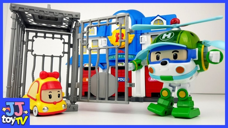 MINI was put in jail. Robocar POLI Rescue! AMBER ROY HELLY ToyPlay for Childlen [JJtoy TV]