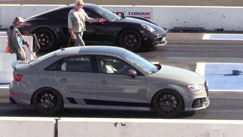 Porsche 718 Cayman vs RS3 Audi