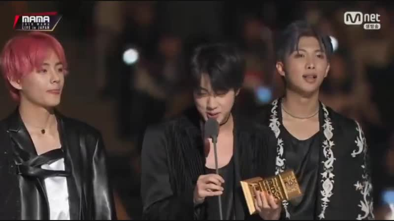 Jin I think it's such an honor that Worldwide handsome won Worldwide Icon of the year... -