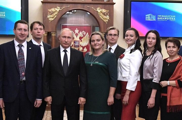 Юлия Капалкина встретилась с Владимиром Путиным