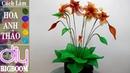 Hướng dẫn cách tự làm Hoa Anh Thảo bằng vải voan đơn giản đẹp DBB VN