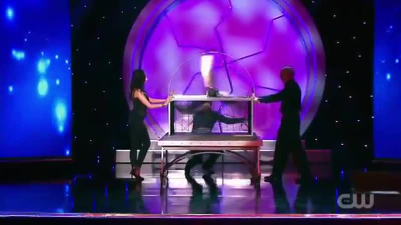 Michael Grandinetti Melts Through Spinning Blades on Masters of Illusion