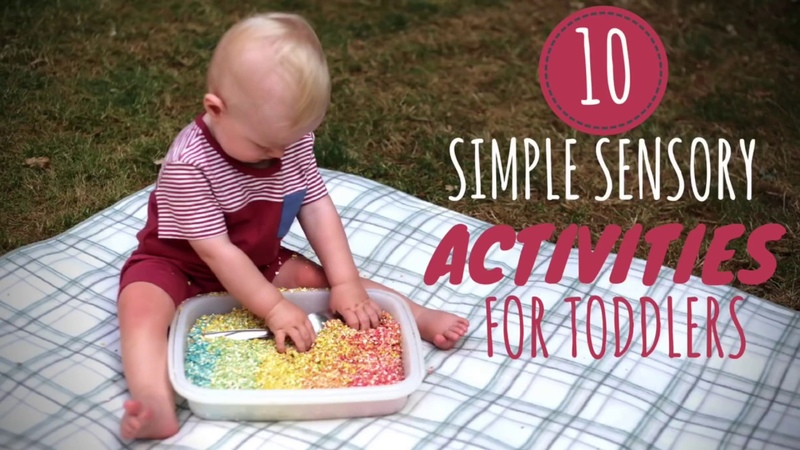 10 Simple Sensory Activities for Toddlers | DIY Baby Entertainment
