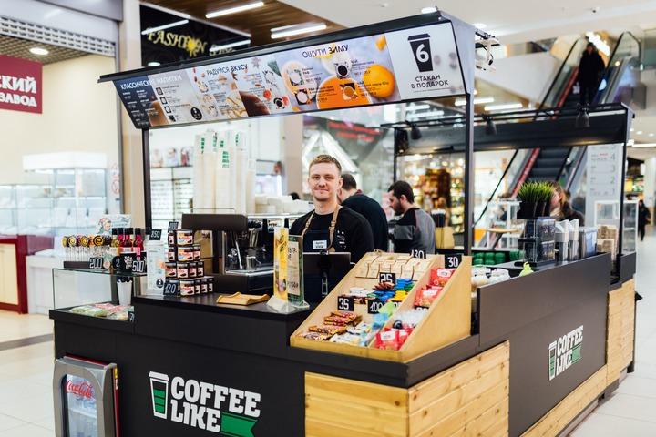 кофе-бар coffee like островок в торговом центре