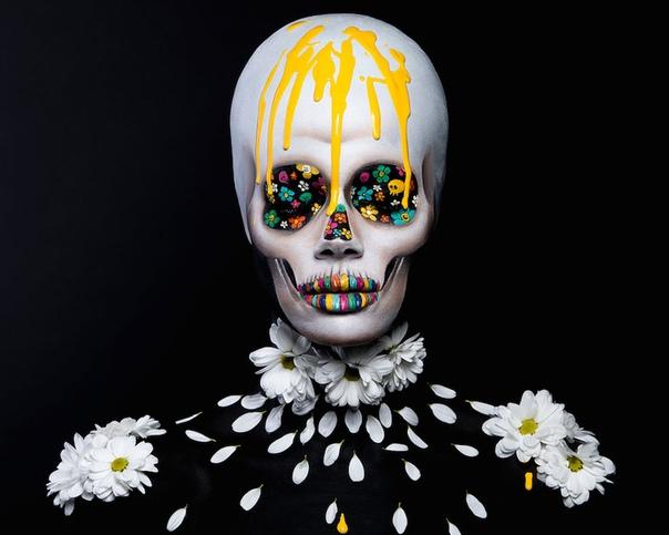 Переосмысленные произведения Такаши Мураками в стиле боди-арт Студенты Академии красоты Mae Up For Ever выполнили непростое задание: по-новому интерпретировать творчество японского поп-арт