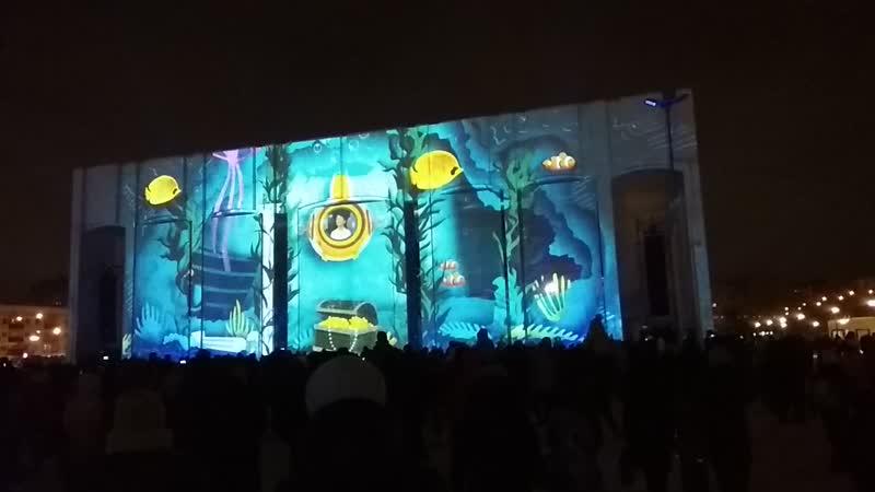 свето проекционное шоу на Театре Театре