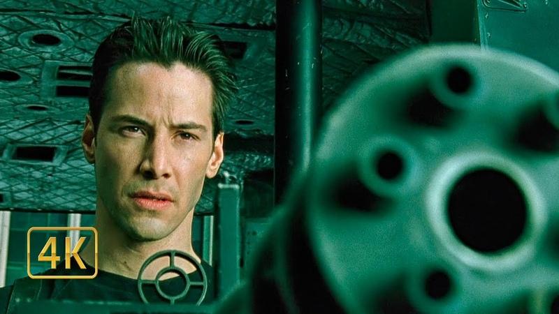 Нео и Тринити спасают Морфеуса. Падение вертолёта. Матрица (1999)