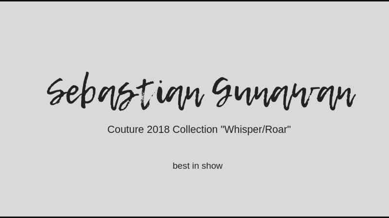 Sebastian Gunawan Couture 2018 Collection Whisper/Roar