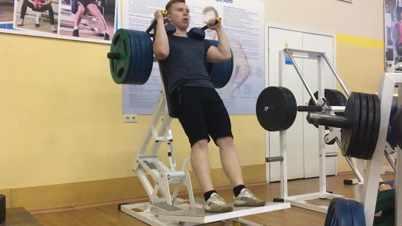 Приседания в Гакке 180 кг на 5 раз