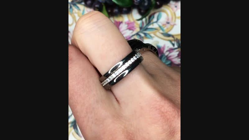 💣🔝Колечки Серебро925 черненое цирконы алмазной огранки Керамика сталь ❗️ЦЕНЫ 2500₽ 1299₽❗️