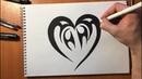Рисунок Имени Анна в Форме Сердца