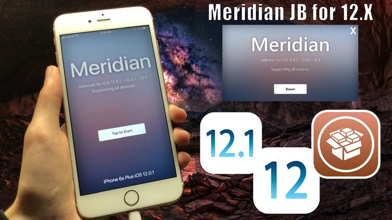 Meridian JB - How to install on iOS 12.1 - 12.1.1 - 12.0.1 Fully Working!
