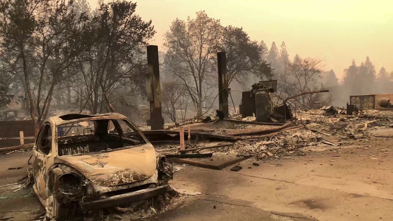 Post-apocalyptic video from Paradise, California