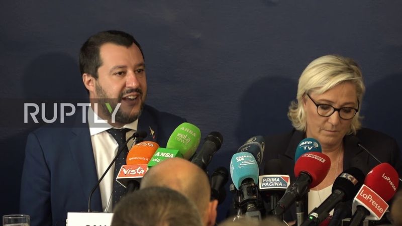 Italy: Salvini, Le Pen 'do not want Europe to pay the bill' for immigration