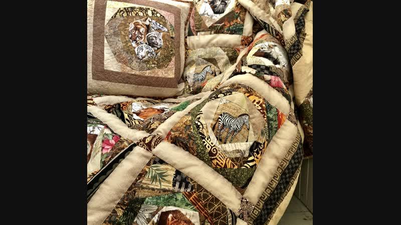 🦋Лоскутный эфир 96. Компоновка одеяла для подростка Дикая Африка.