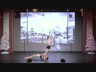 Петрова Ксения и Сеслюкова Елена, 1-е место, Группа Pole Art дуэты