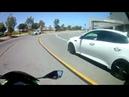 Автомобилист наказал байкера за агрессивное поведение на дороге