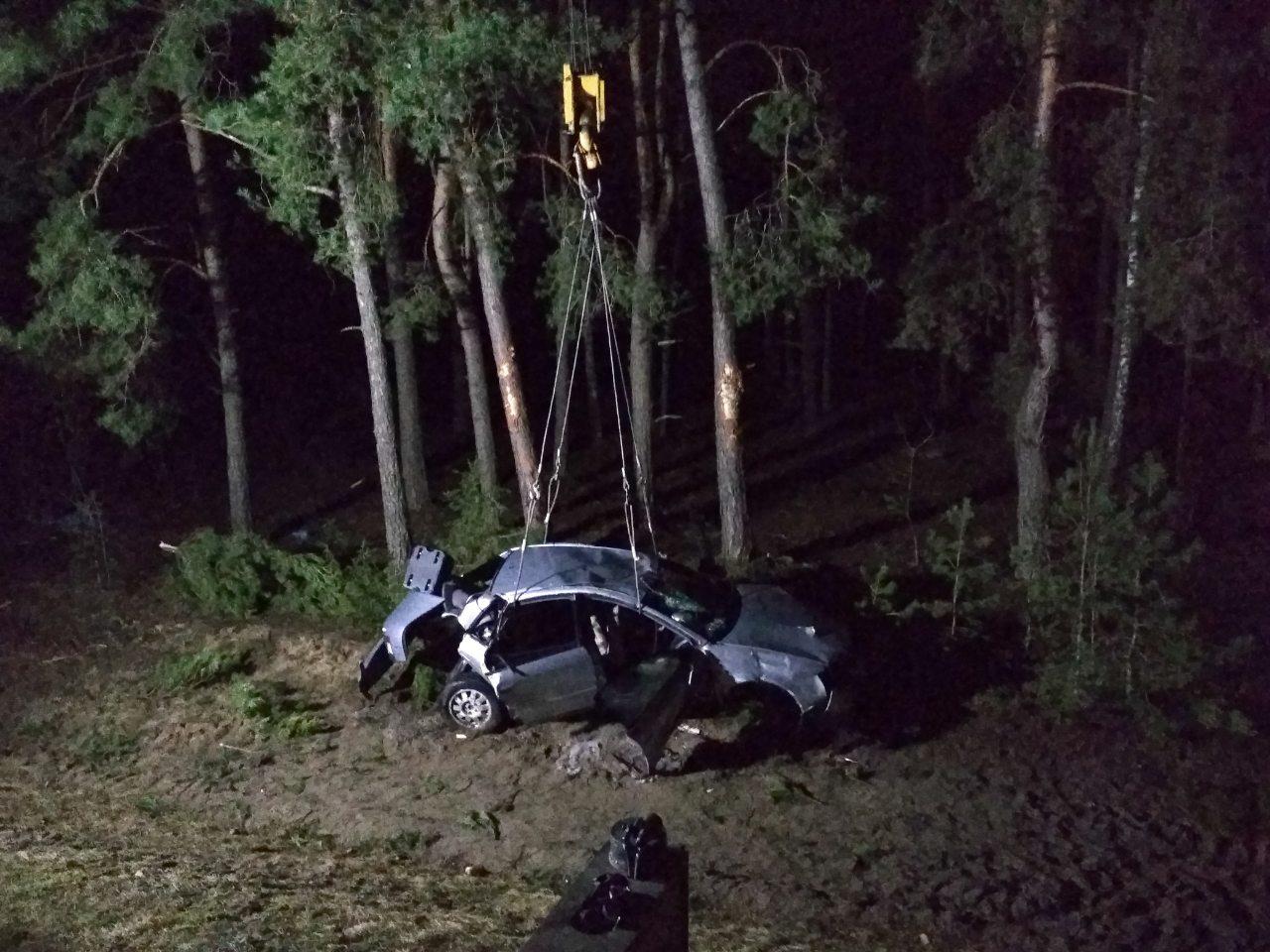 Страшное ДТП в Ивановском районе - автомобиль вылетел в лес, погибли два человека