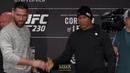 UFC 230: Chris Weidman vs. Jacare Souza Media Day Staredown - MMA Fighting