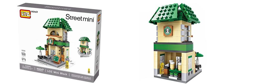 """Конструктор LOZ Street Mini """"Кофейня """"Starbucks"""" 1608"""