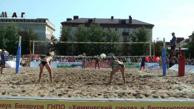 EEVZA 2013 Bobruisk open final 1st place Alova Markova RUS and Syrtseva Chaika RUS