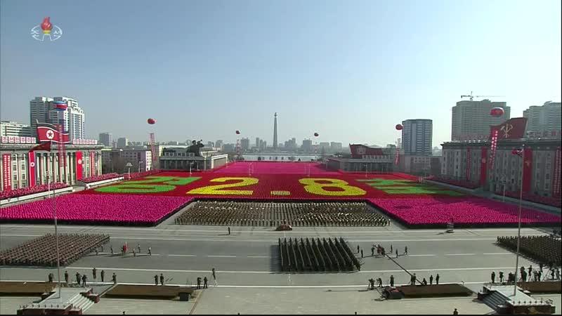경애하는 최고령도자 김정은동지를 조선인민군최고사령관으로 높이 모신 7돐경축 중앙보고대회