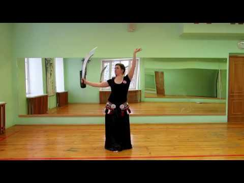 Corkscrew Turn variations with sword