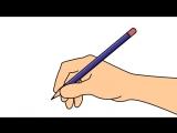 Как научиться держать карандаш. Шаг 2: правильно расположите карандаш, используя способ «щипка и переворота»