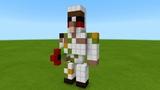 Minecraft Tutorial How To Make a Cute Iron Golem Statue